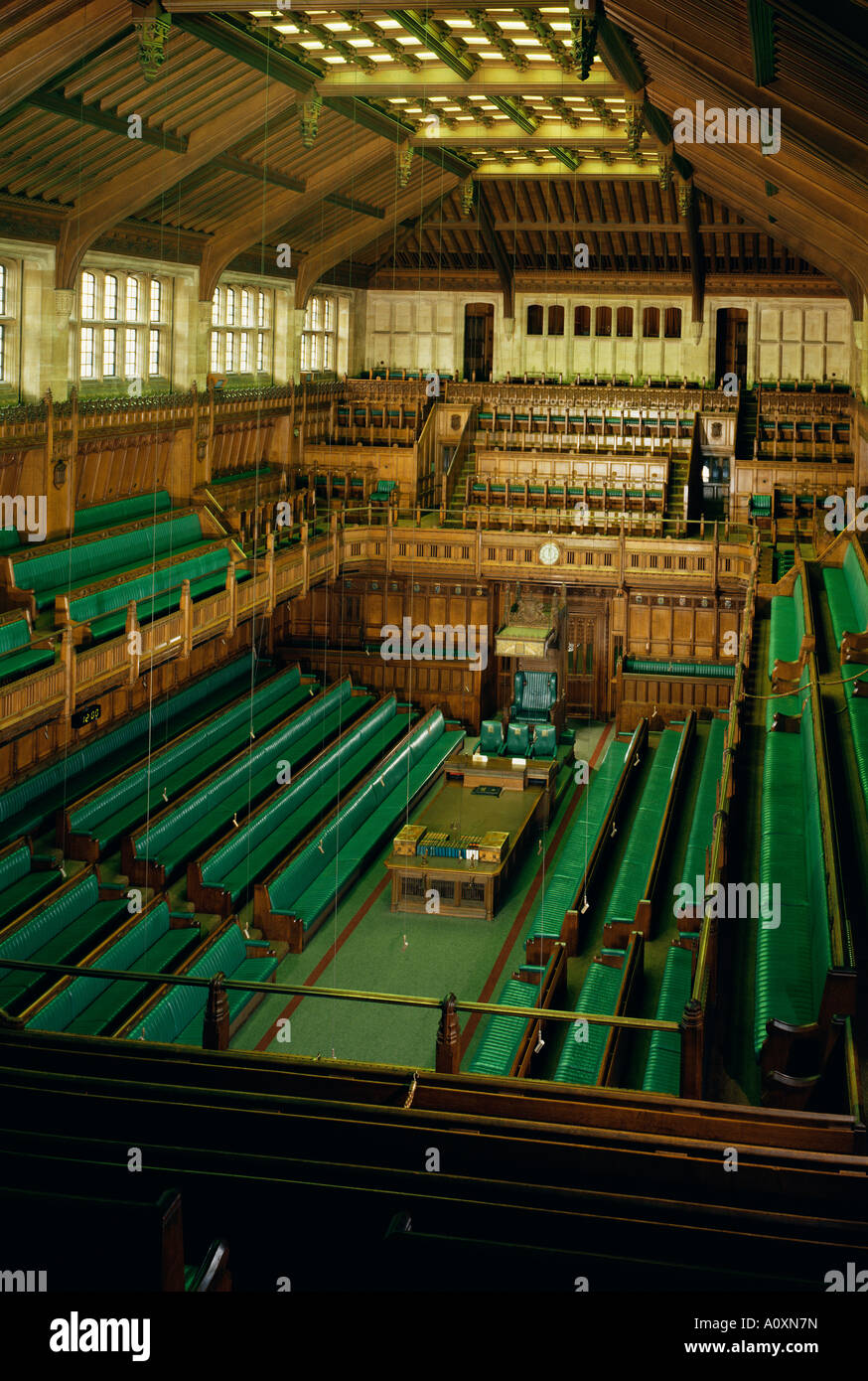 Perfect Interior Of The Commons Chamber Houses Of Parliament Westminster London  England United Kingdom Europe Part 8