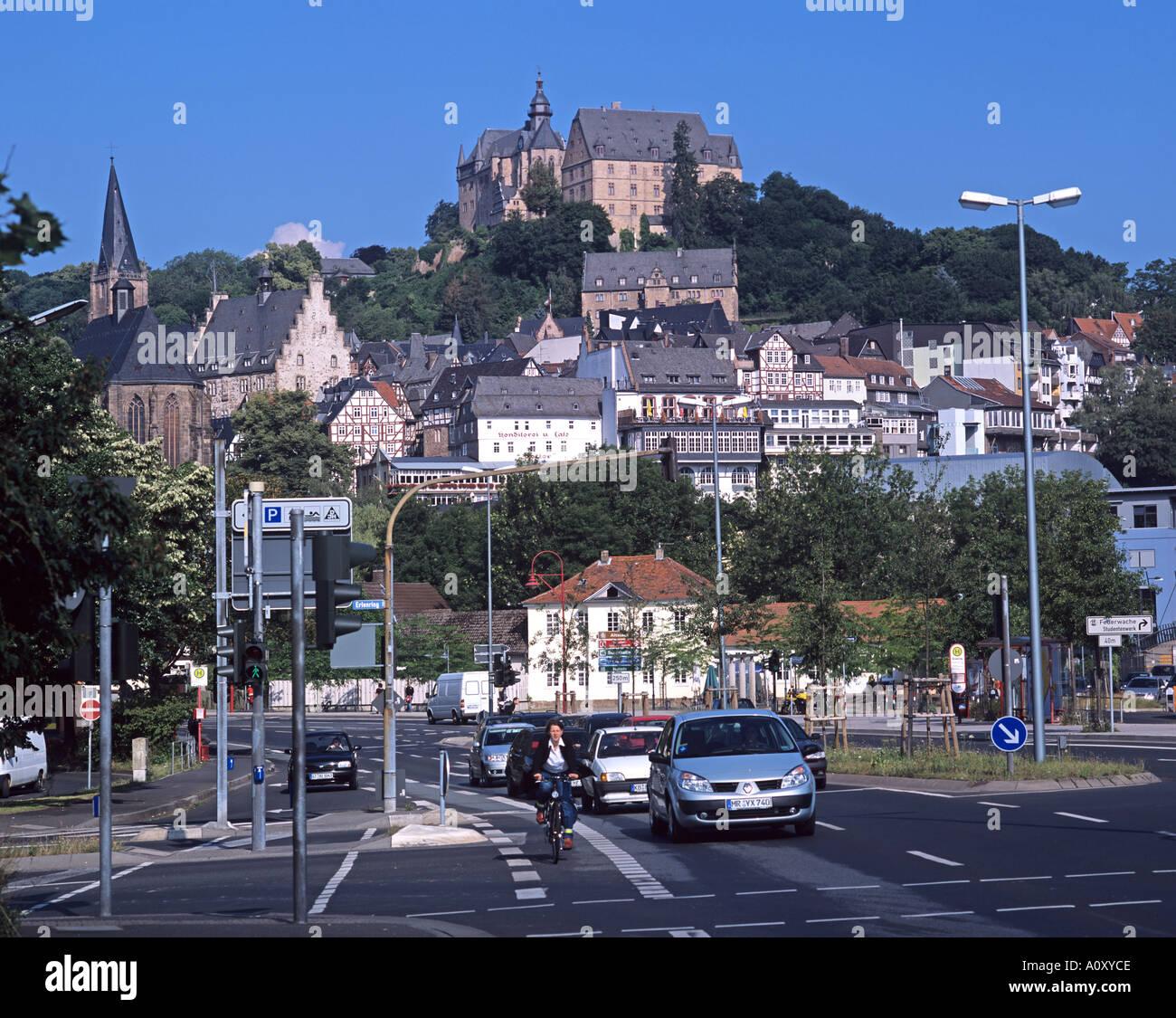europa europe germany deutschland hessen hesse marburg schloss castle stock photo royalty free. Black Bedroom Furniture Sets. Home Design Ideas