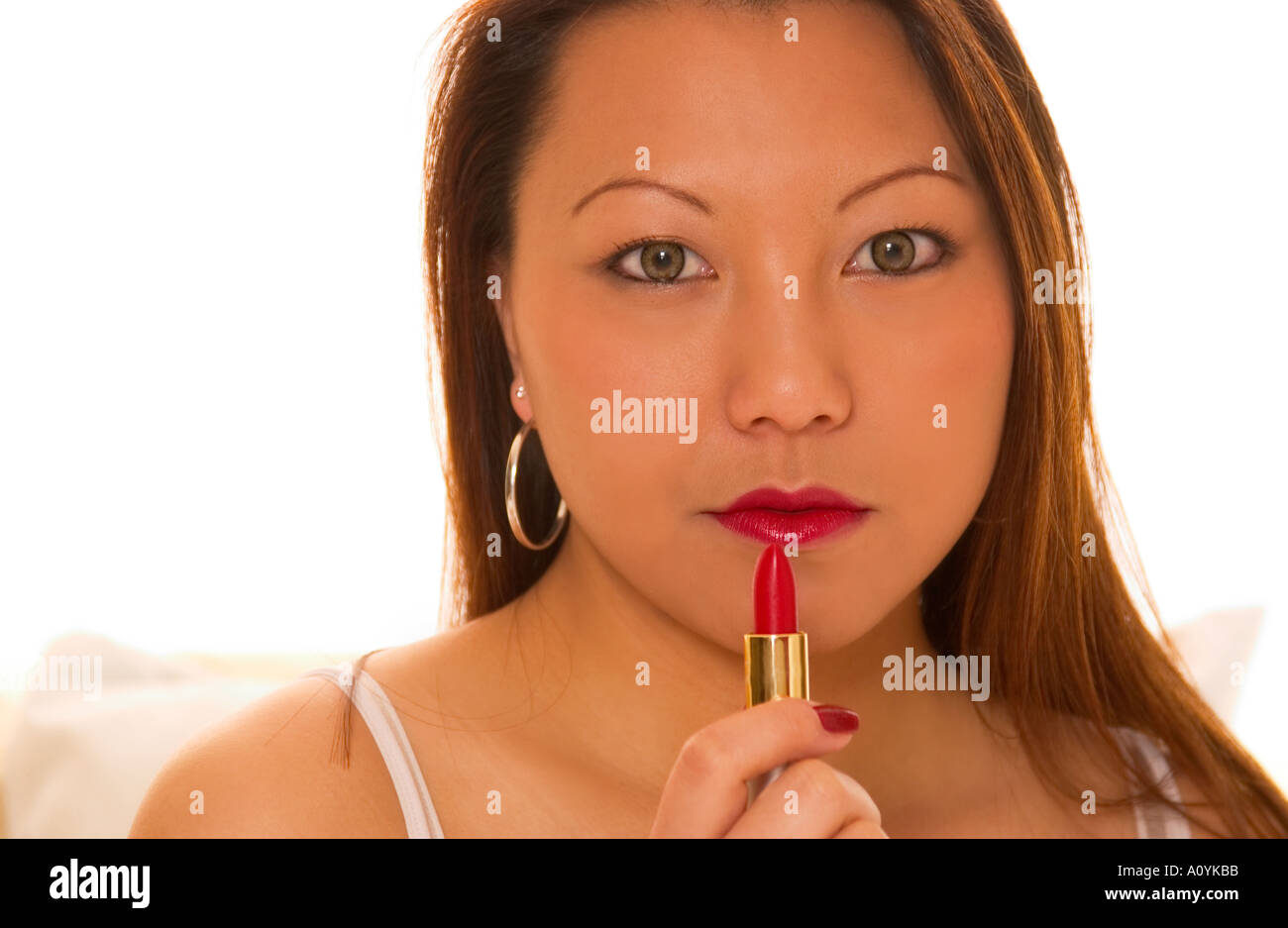 lip asian woman