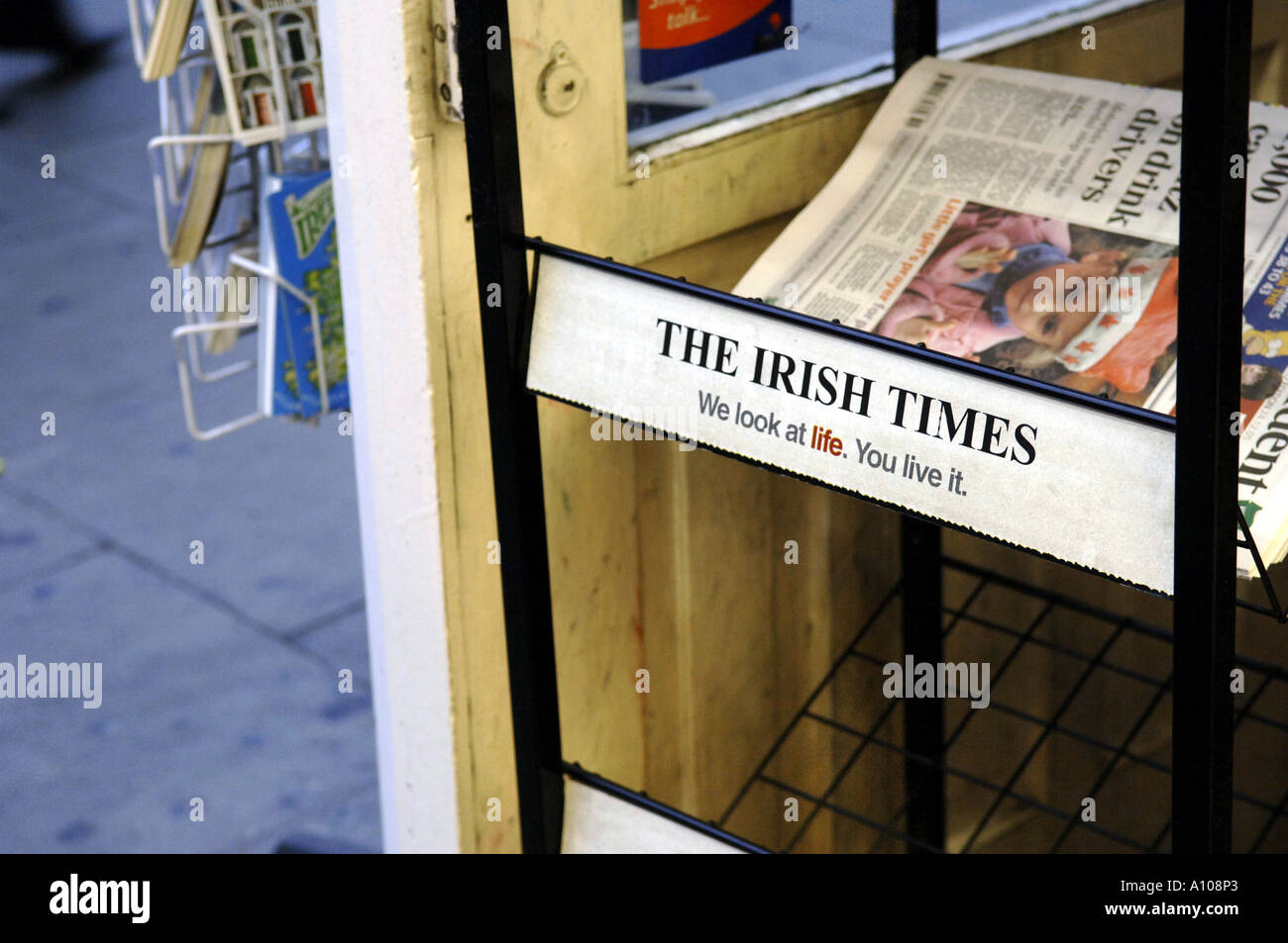 The irish times newspaper stand press irish ireland eire dublin stock photo royalty free image - Irish times office dublin ...