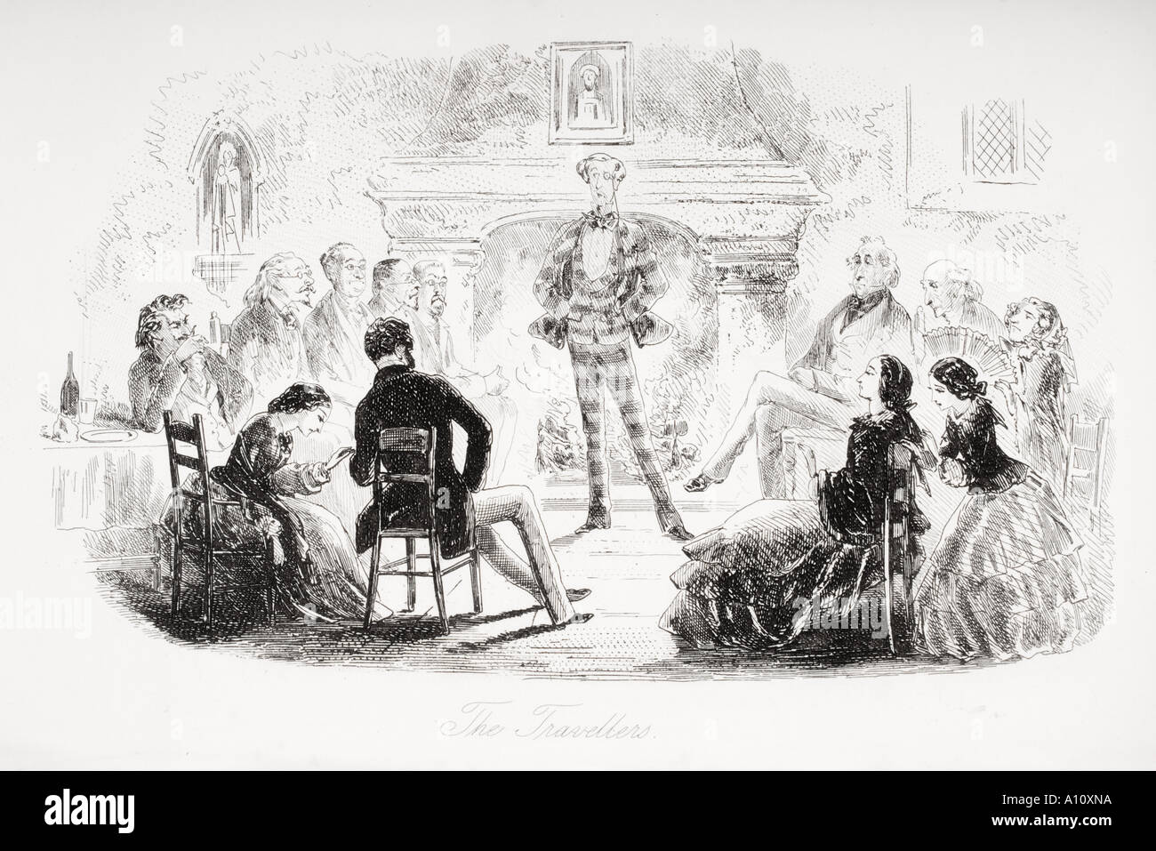 the travellers illustration from the charles dickens novel david stock photo the travellers illustration from the charles dickens novel david copperfield by h k browne known as phiz