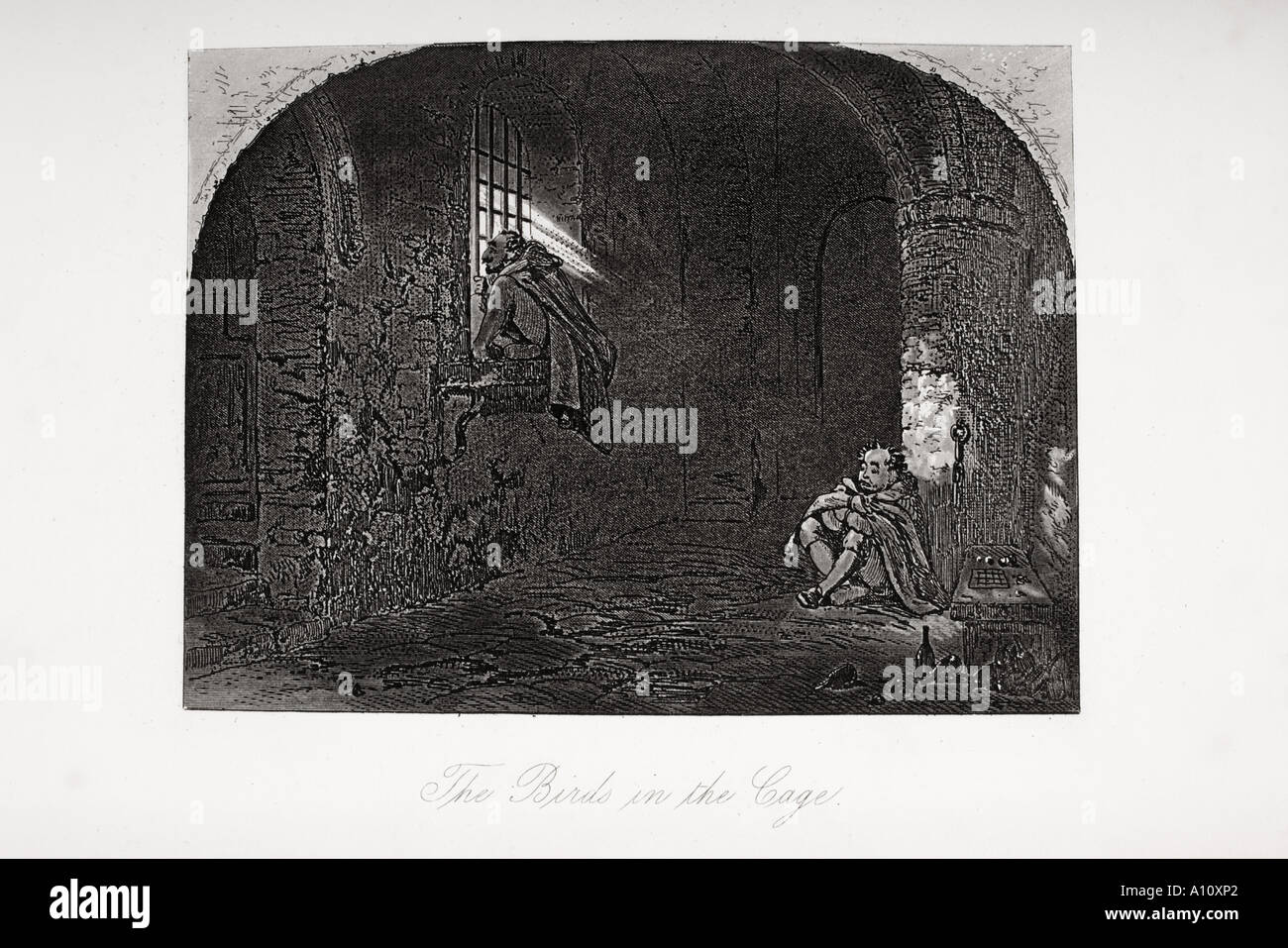 the birds in the cage illustration from the charles dickens novel stock photo the birds in the cage illustration from the charles dickens novel david copperfield by h k browne known as phiz