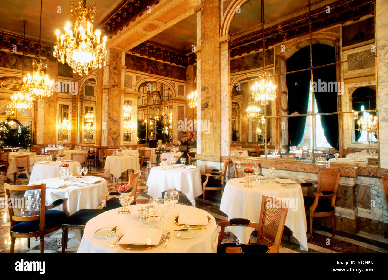 paris france french haute cuisine restaurant dining room