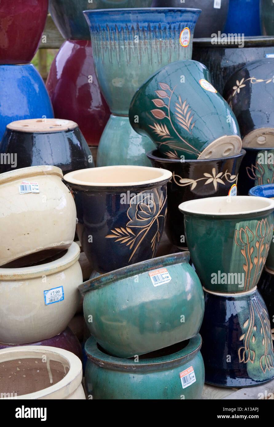 Wonderful Ceramic Pots For Sale Part - 11: Frost Resistant Ceramic Pots On Sale In Garden Centre UK