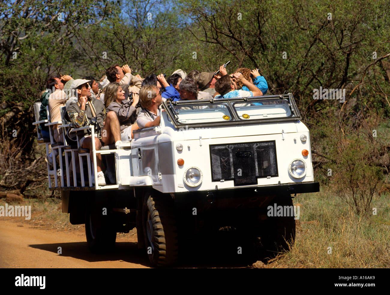Safari Car truck Kruger National Park South Africa Stock ...