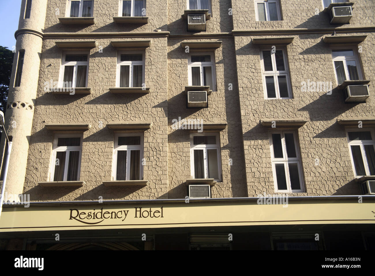 Ten Windows Of Residency Hotel Old British Gothic Architecture On D N Road Near Handloom House Fort Bombay Mumbai India