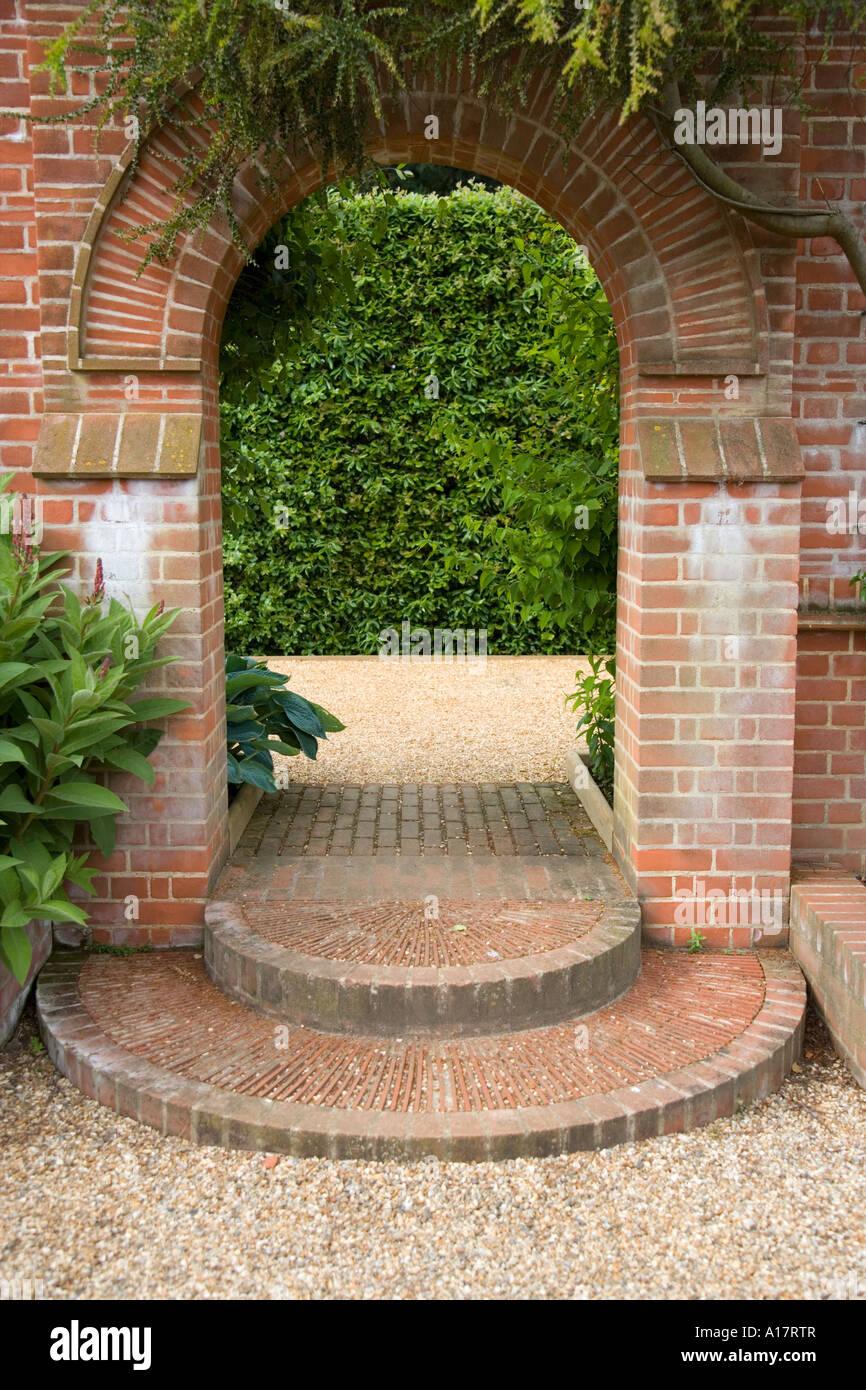 how to make brick garden steps