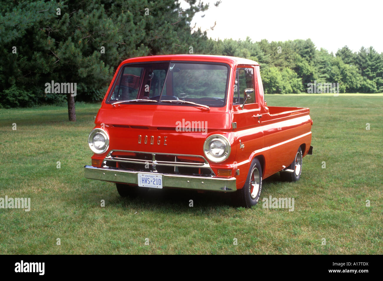 1966 dodge a 100 compact pickup truck on grass stock photo royalty free image 10172005 alamy. Black Bedroom Furniture Sets. Home Design Ideas