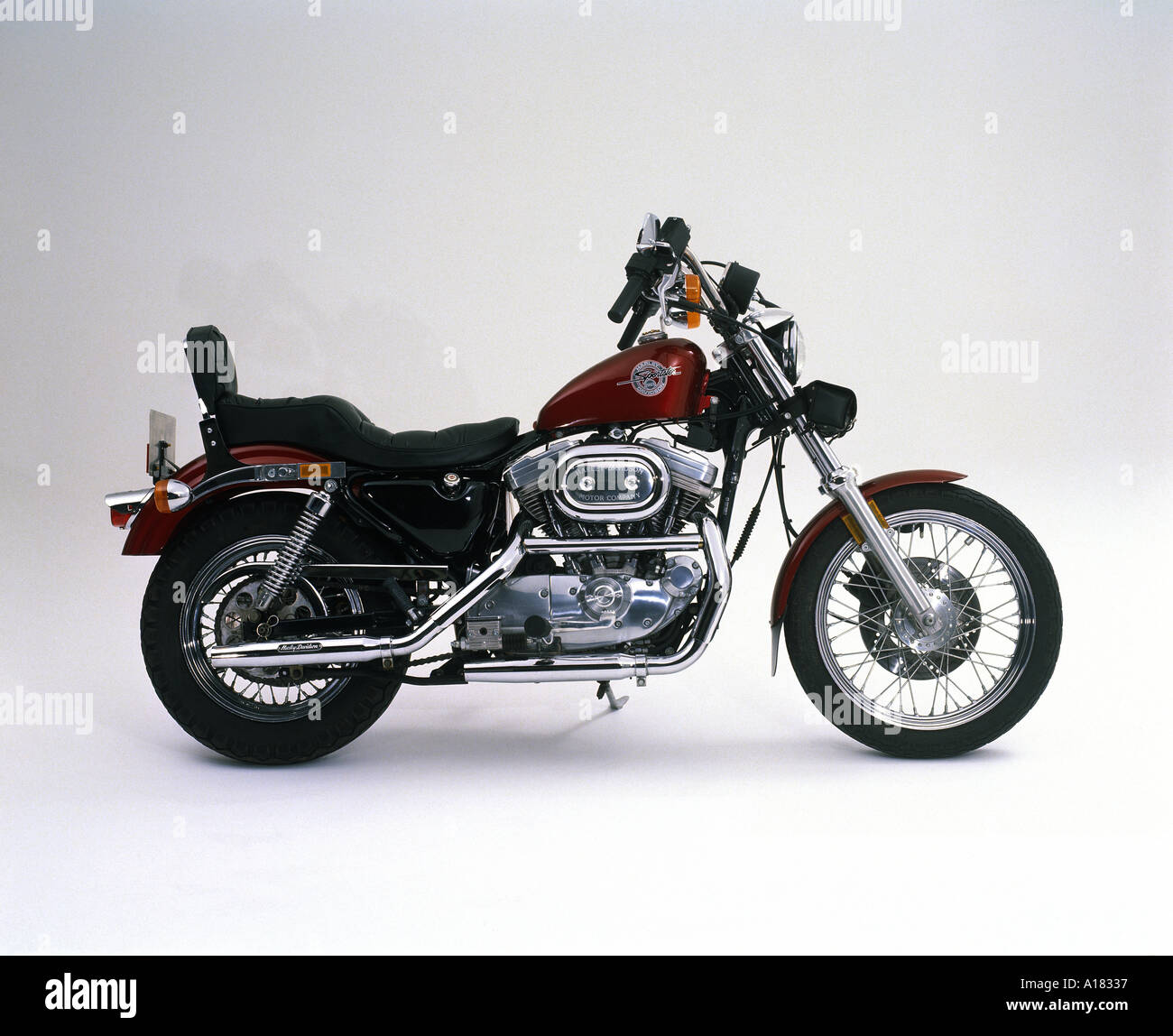 Harley Davidson Stock: 1989 Harley Davidson 883 Sportster Stock Photo: 99127