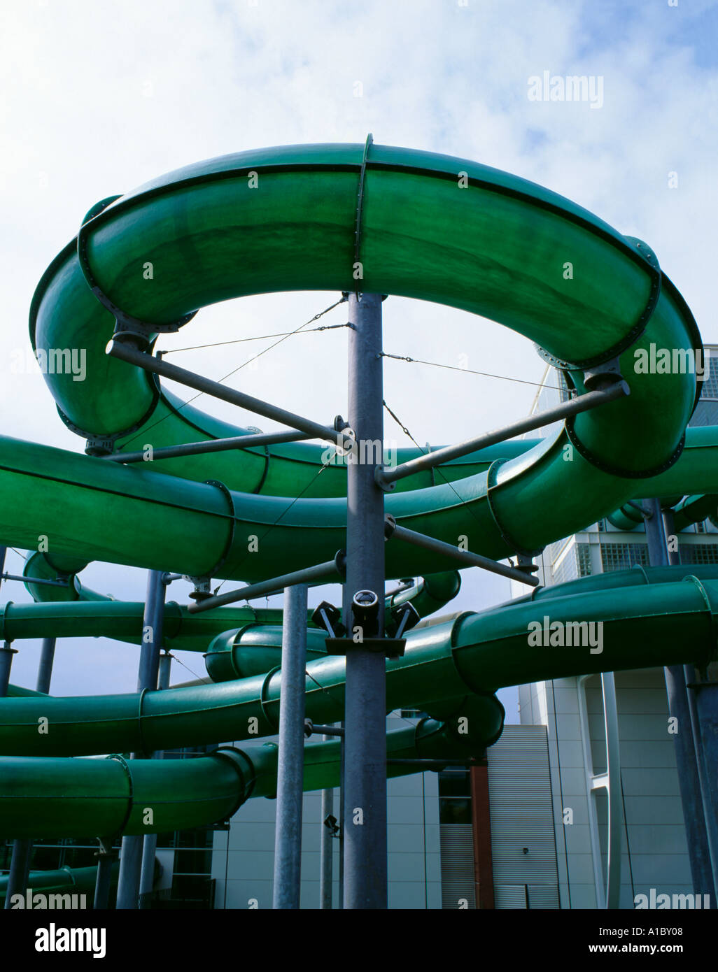 External Water Slide At A Swimming Pool At Wet And Wild Royal Stock Photo Royalty Free