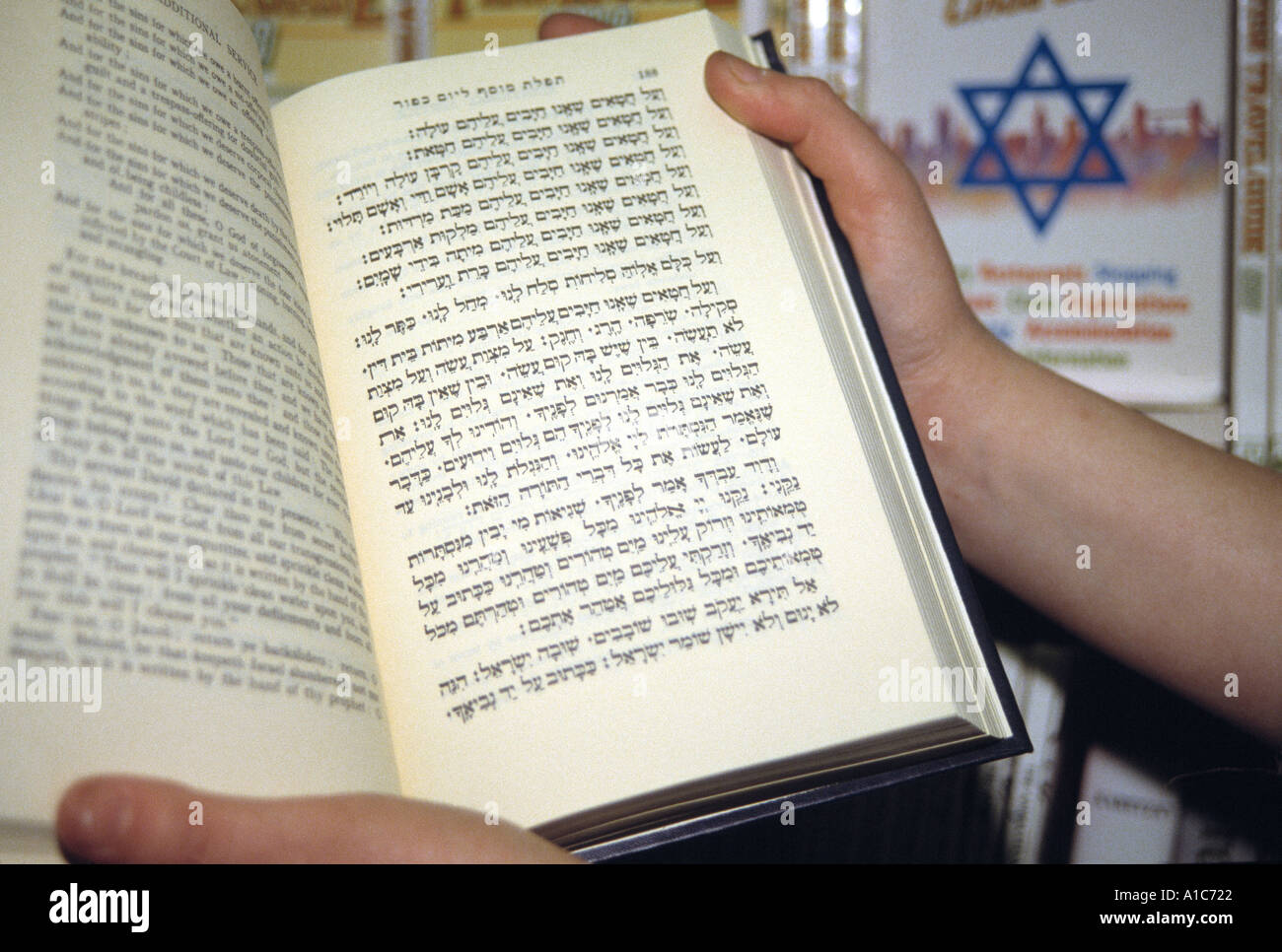 The Jewish holy book or torah with the Star of David Stock Photo ...
