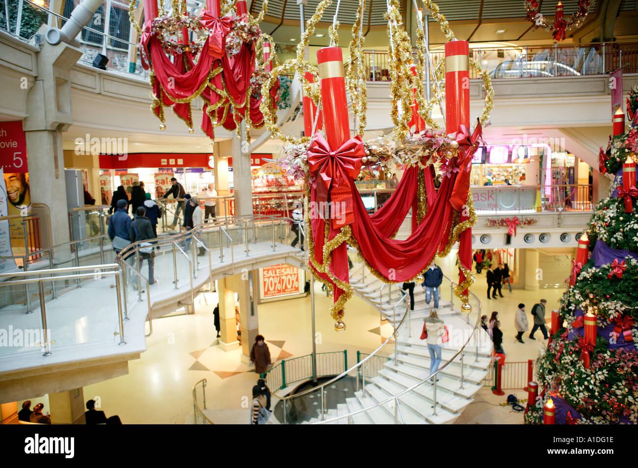 Decorating Ideas > Christmas Decorations Shopping Mall UK Stock Photo  ~ 123946_Christmas Decoration Ideas Mall