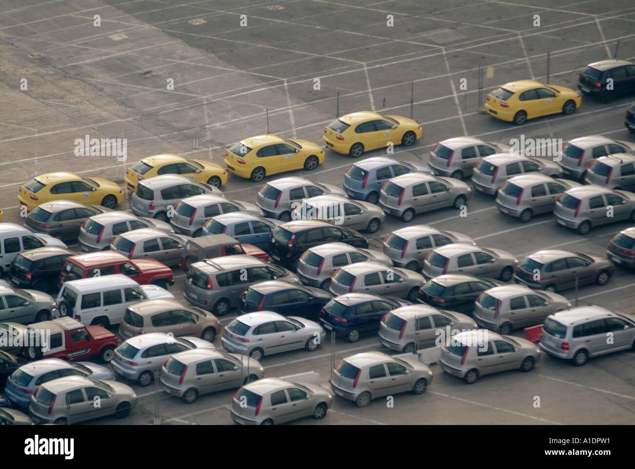 New Cars At Port Awaiting Shipping Export Import Docks
