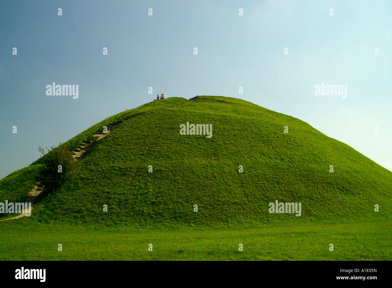 Kopiec kraka krak mound hill green grass lawn hummock for Mounding grass