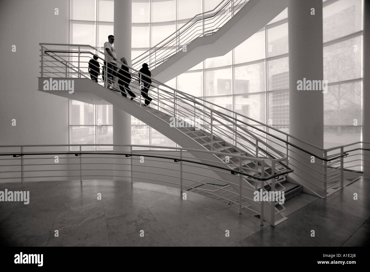 Getty Museum Los Angeles Ca Usa Interior Exterior Architectual Stock Photo Royalty Free