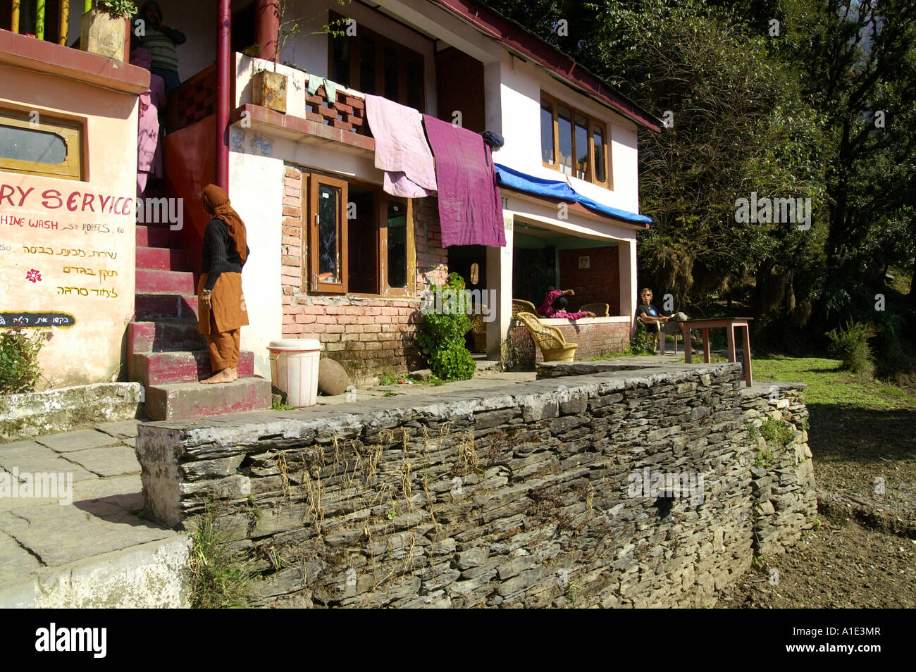 Typical terrace of indian village house guesthouse view for Terrace india