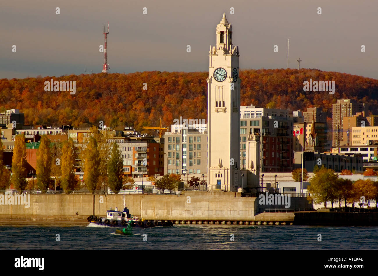 Tour de l 39 horloge quai de l 39 horloge vieux port old montreal stock photo royalty free image - Activite montreal vieux port ...