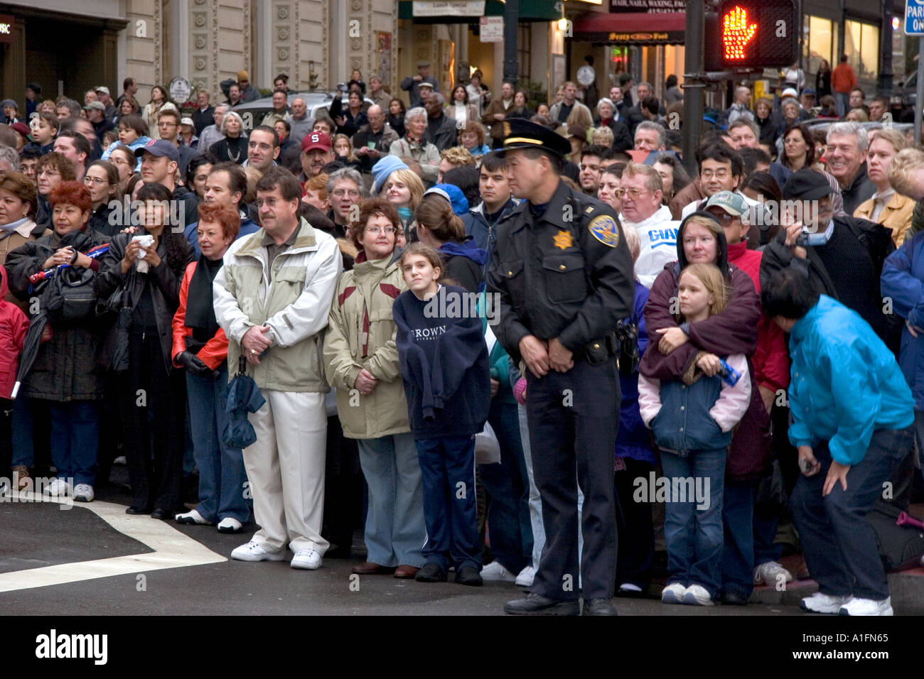 Crowds of people line up along the streets of chinatown to for People s choice 65