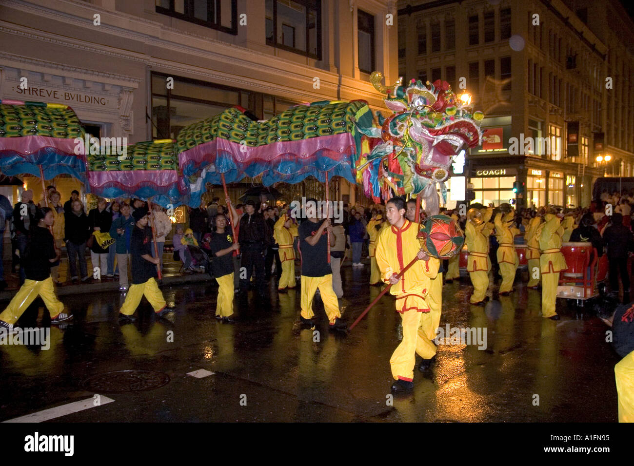chinese dragon in the chinese new year parade in san francisco california - Chinese New Year Parade Sf