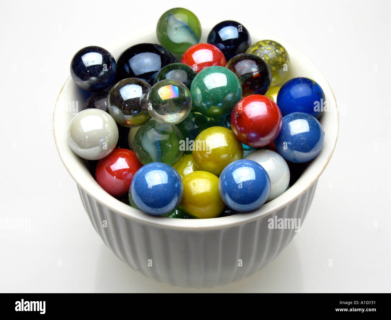 A Bowl Of Marbles Stock Photo Royalty Free Image 3349296