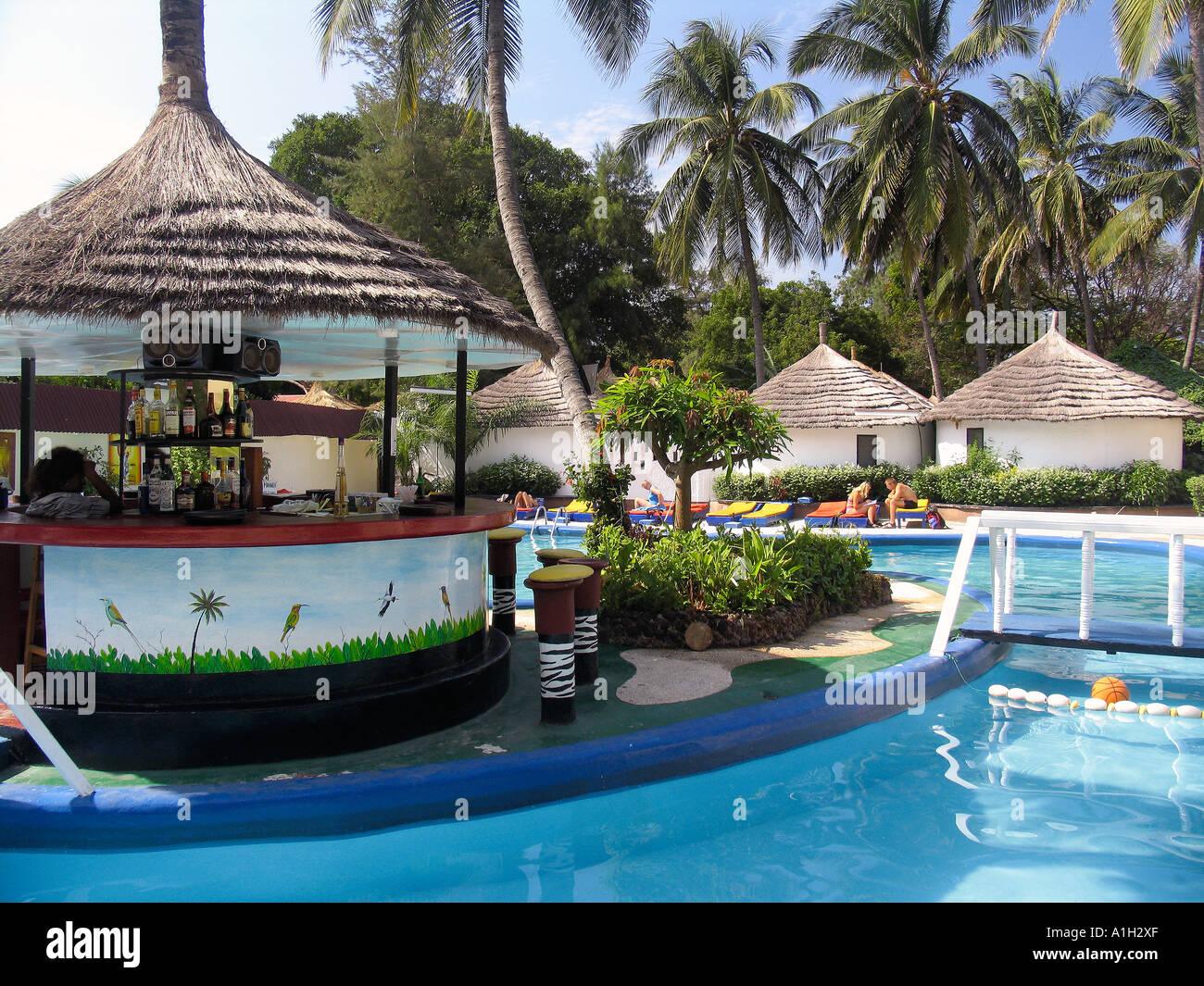Island pool bar and bungalows African Village Hotel Bakau ...  Island pool bar...