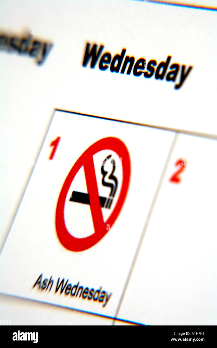 Calendar with no smoking symbol action on smoking and health ash calendar with no smoking symbol action on smoking and health ash wednesday buycottarizona Images
