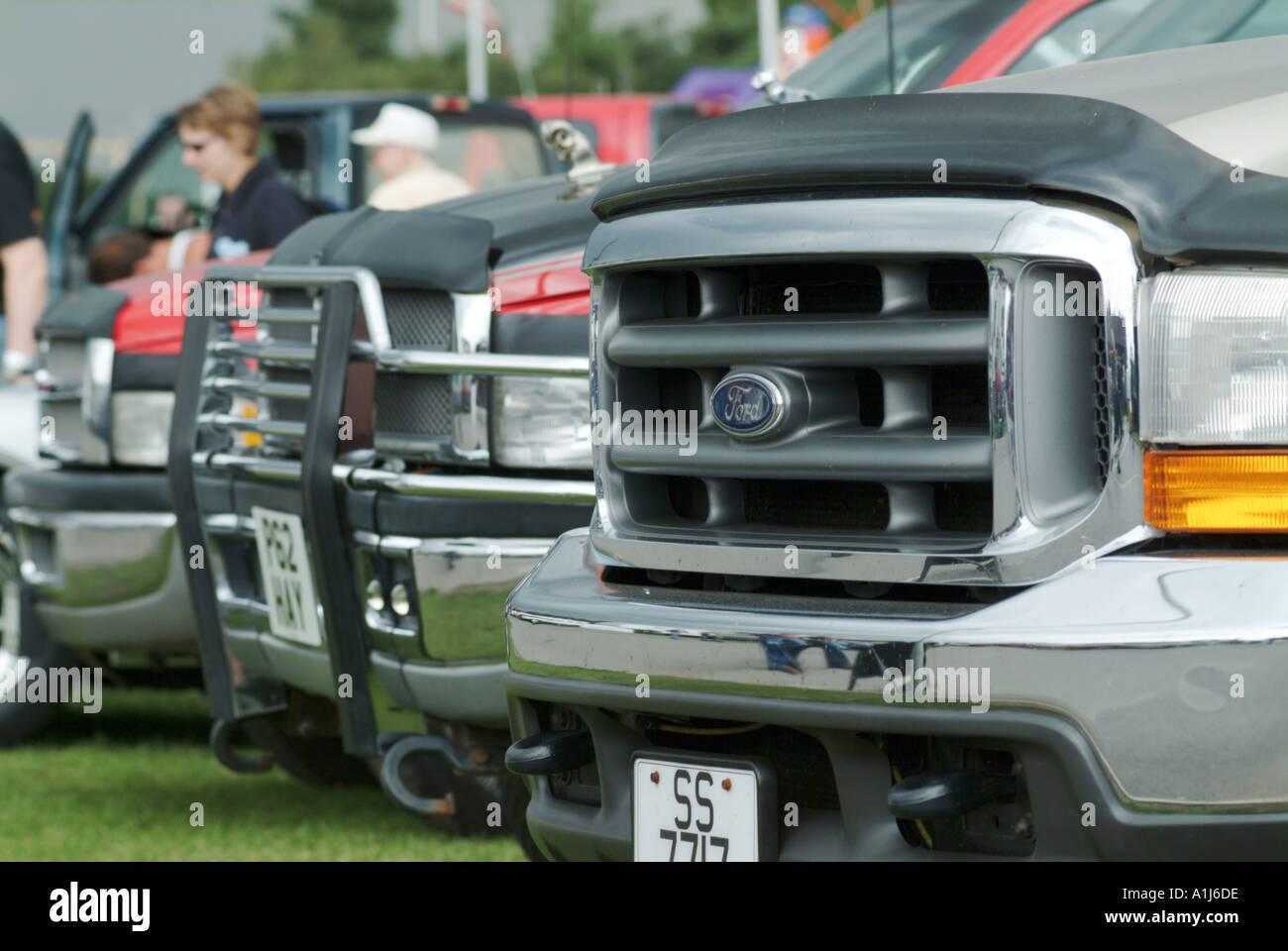 Ford Pick Up Truck Grill Car Gas Guzzler Petrol Suv Engine