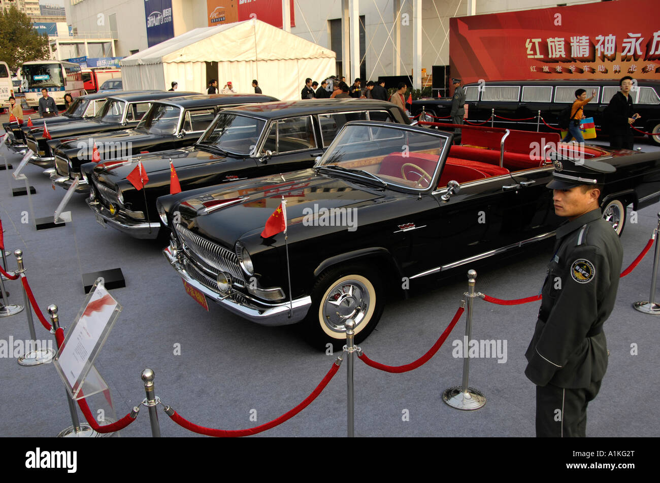 Faw Hongqi Red Flag Old Sedans At The International