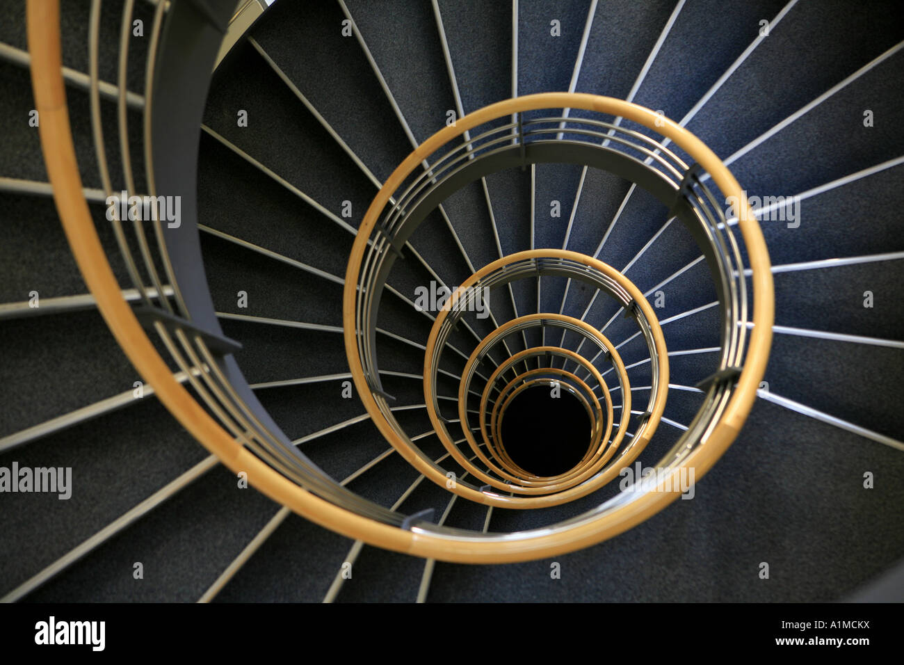 stock photo a spiral staircase in building