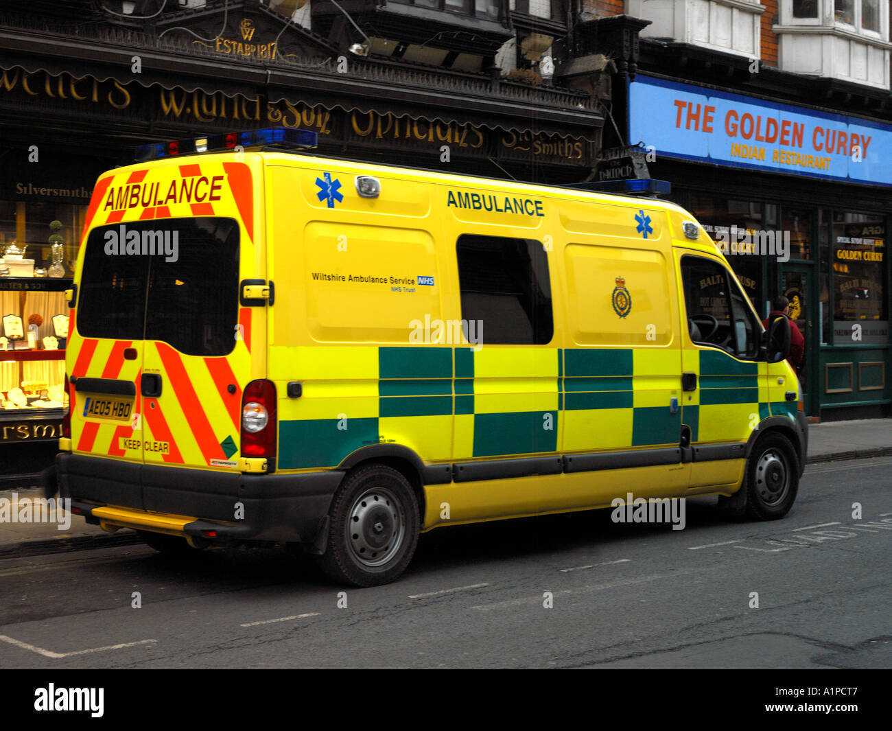 ambulance new yellow colour in salisbury wiltshire england - Ambulance Pictures To Colour