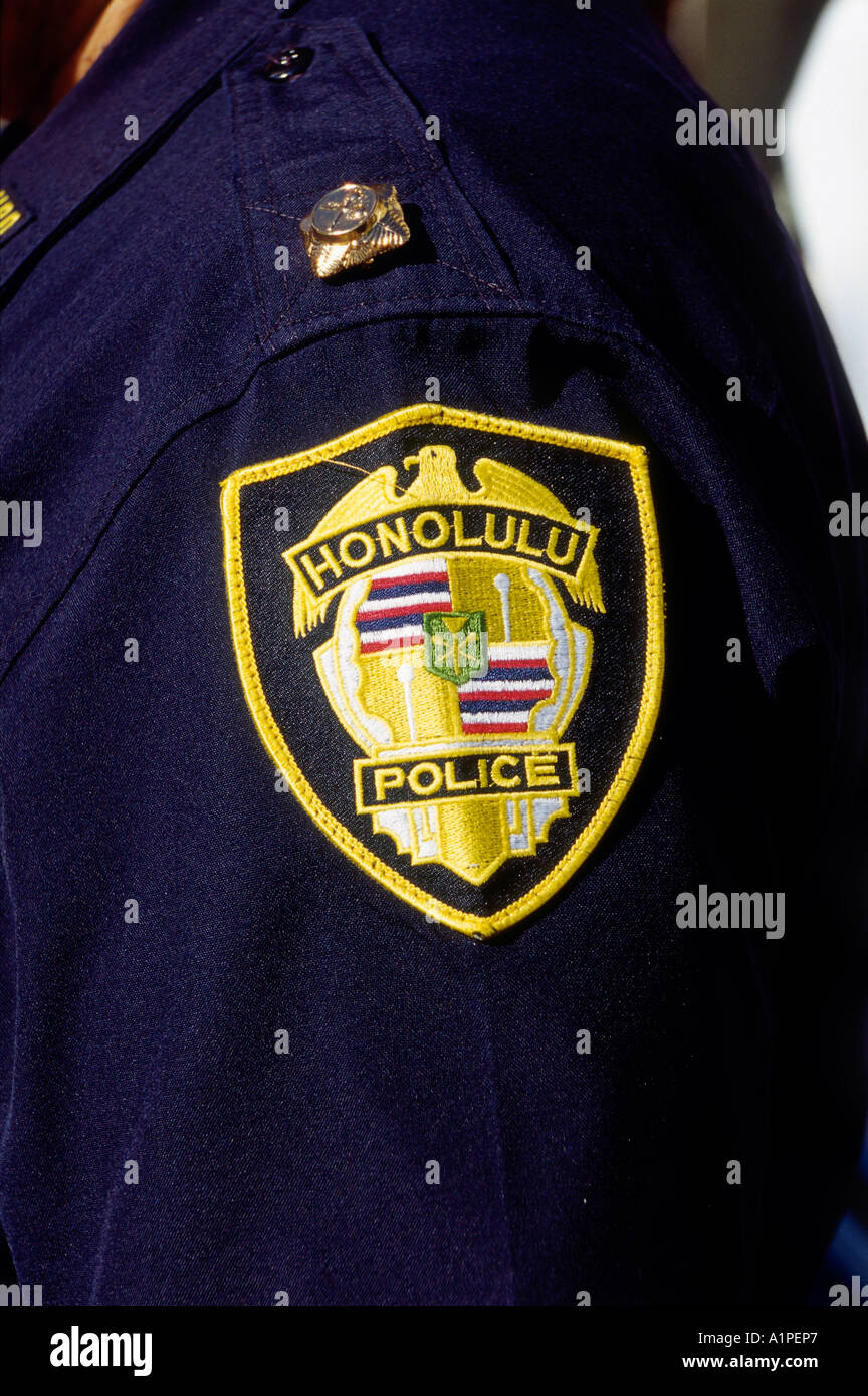 hawaii honolulu police badge stock photo royalty free image