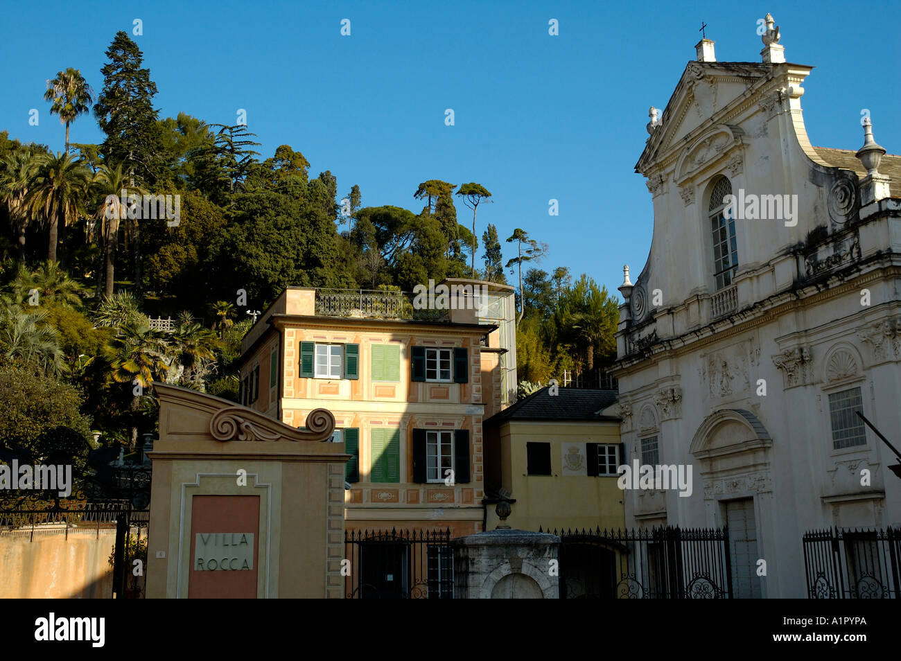 chiavari villa rocca and the deconsecrated church of san. Black Bedroom Furniture Sets. Home Design Ideas