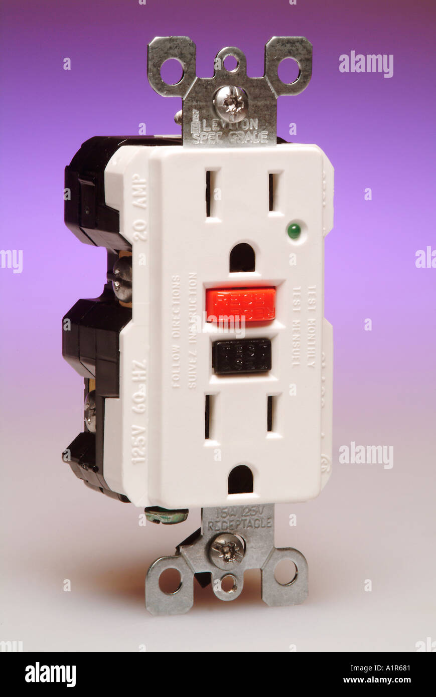 A ground fault circuit interrupter or gfci outlet stock photo a ground fault circuit interrupter or gfci outlet sciox Image collections