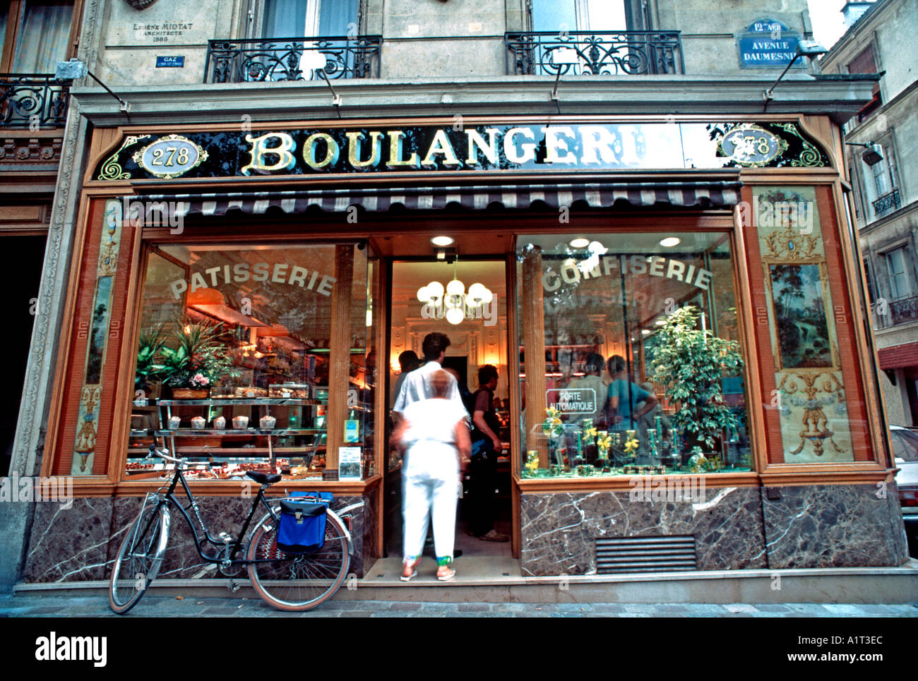 Vintage French Bakery Shop Front Paris France Boulangerie Patisserie Exterior Old Storefront Window