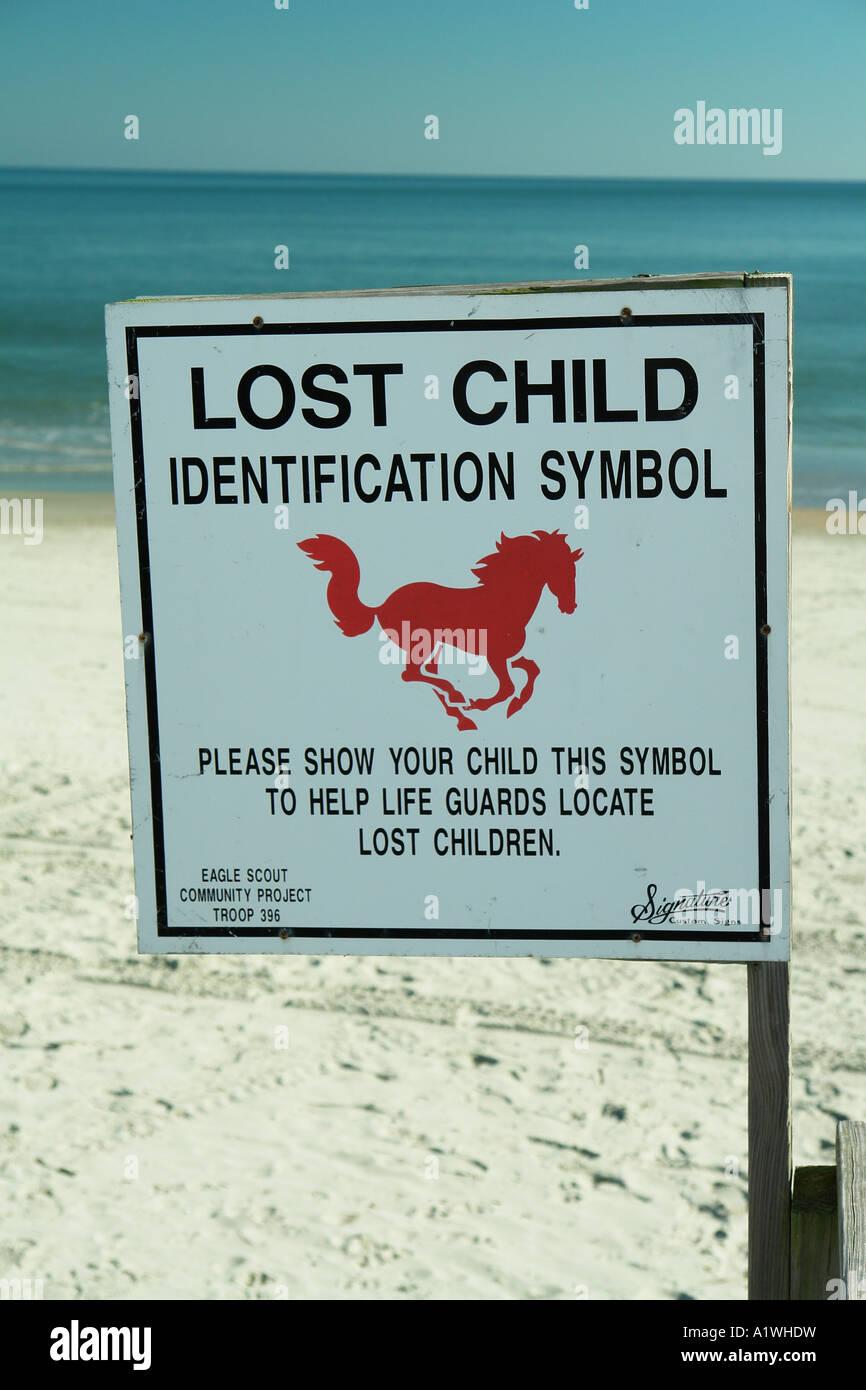 AJD54671 Myrtle Beach SC South Carolina Lost Child Indentification Symbol Sign