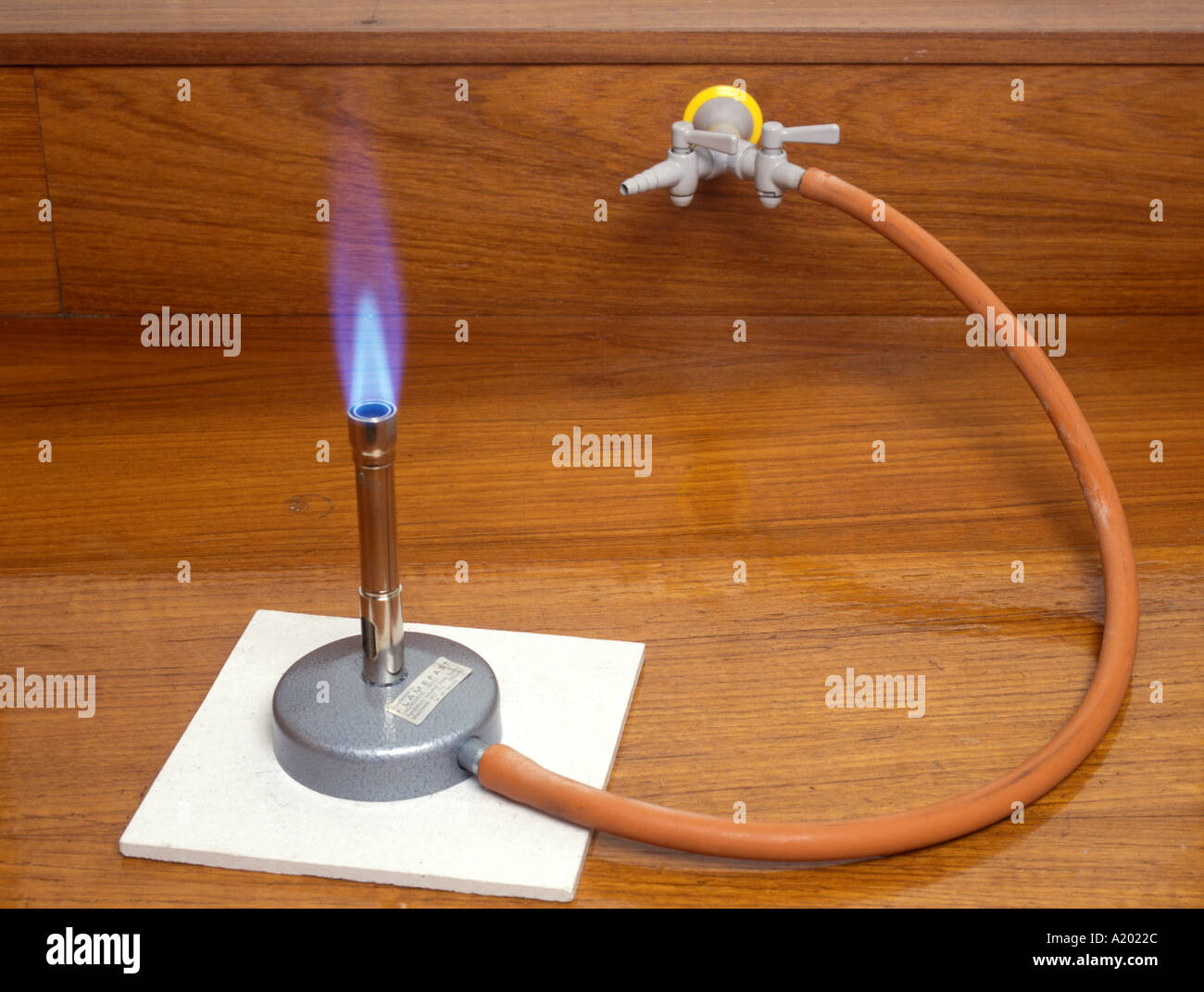 Bunsen Burner With A Roaring Blue Flame When The Air Hole
