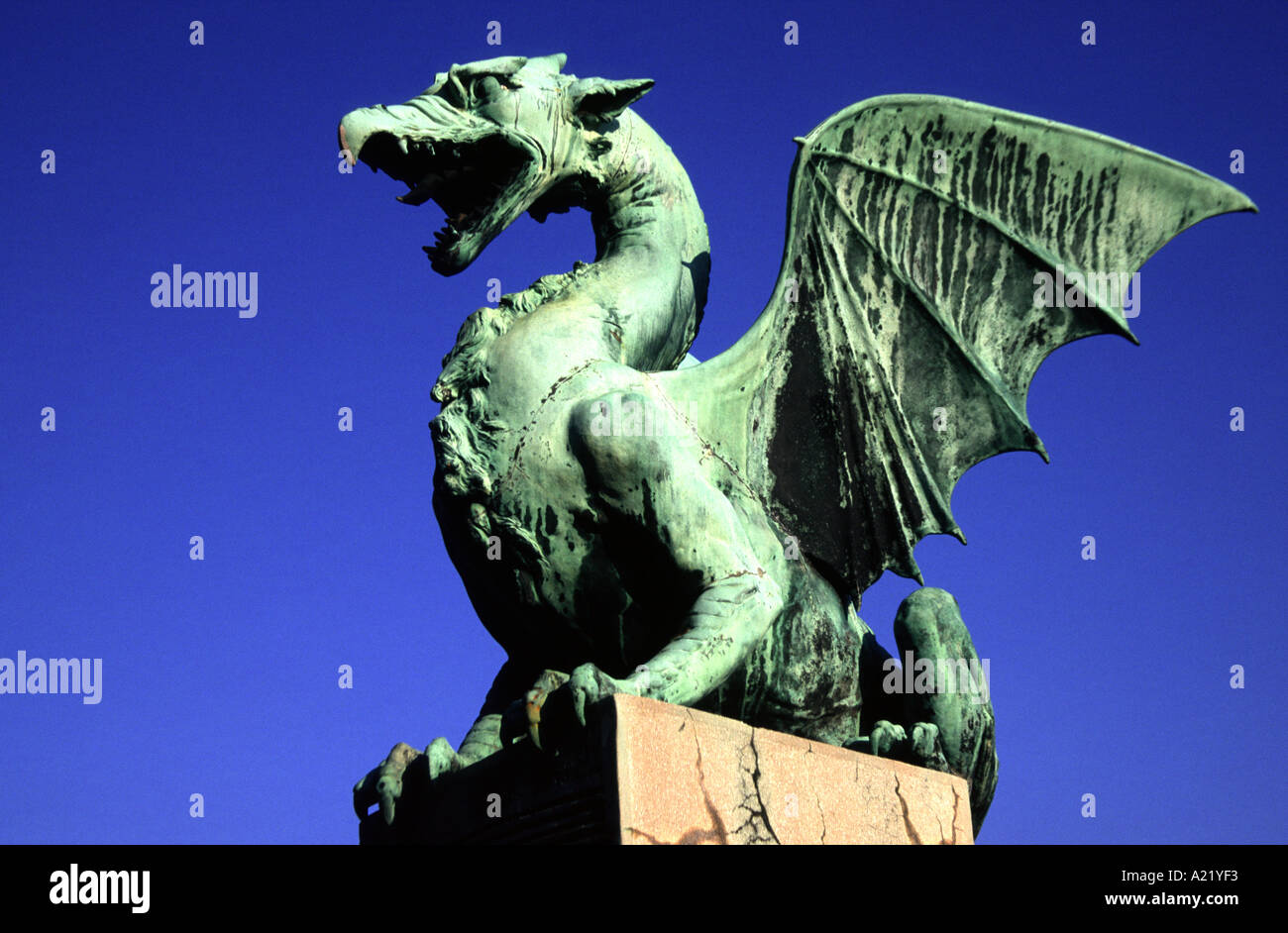 A dragon on the dragon bridge symbol of the capital city of a dragon on the dragon bridge symbol of the capital city of ljubljana slovenia biocorpaavc Image collections