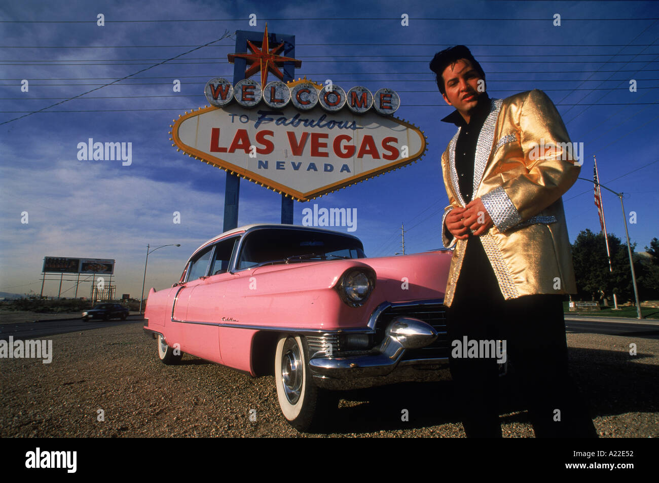 elvis look a like and pink cadillac local caption las. Cars Review. Best American Auto & Cars Review