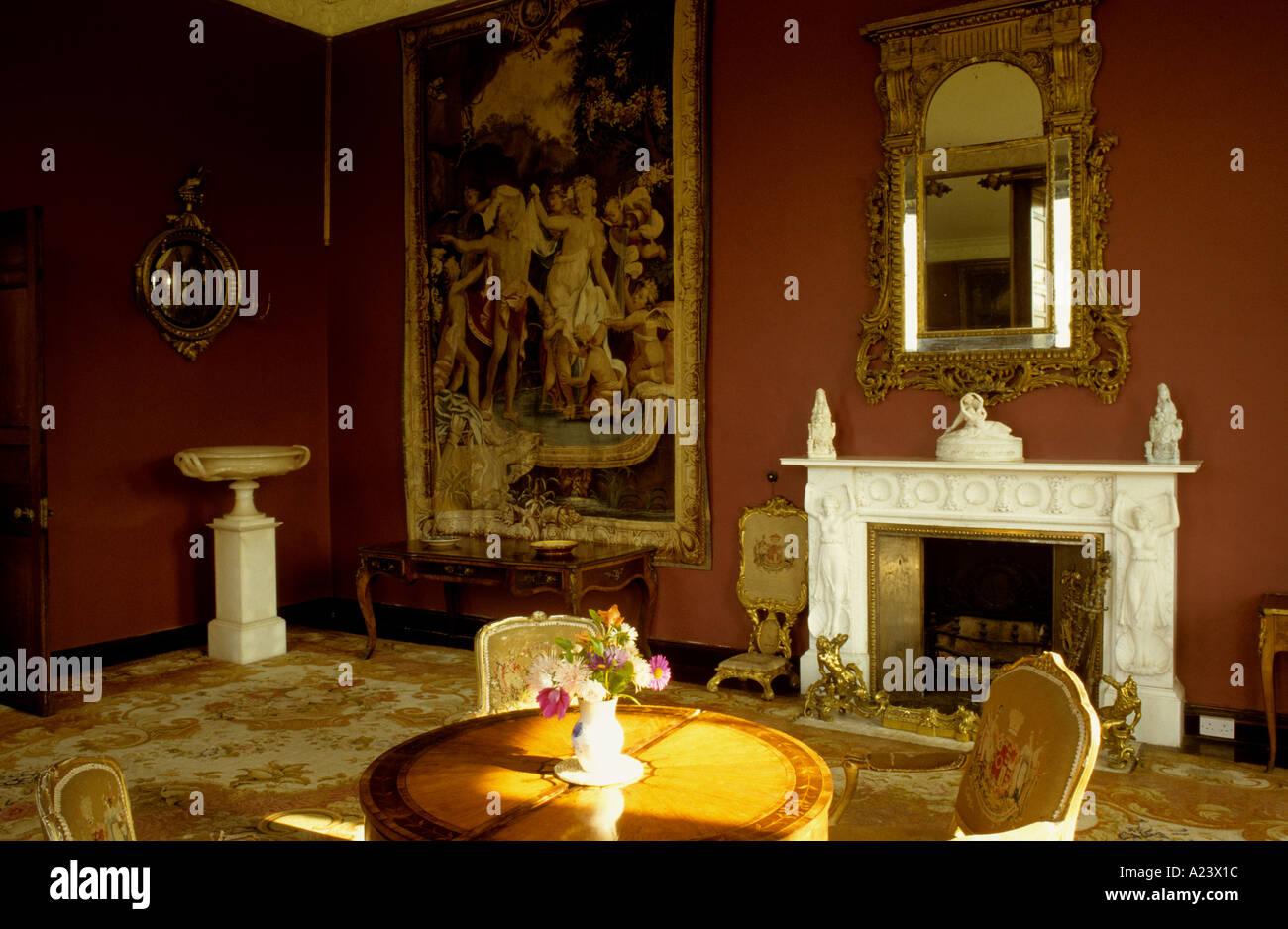 bantry house interior co cork ireland stock photo, royalty free