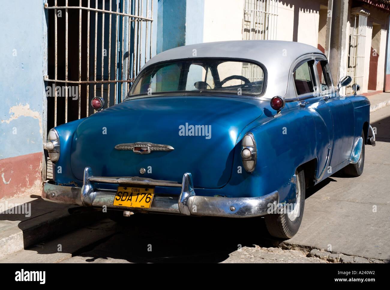 Old Chevrolet car in Trinidad Cuba Stock Photo, Royalty Free Image ...