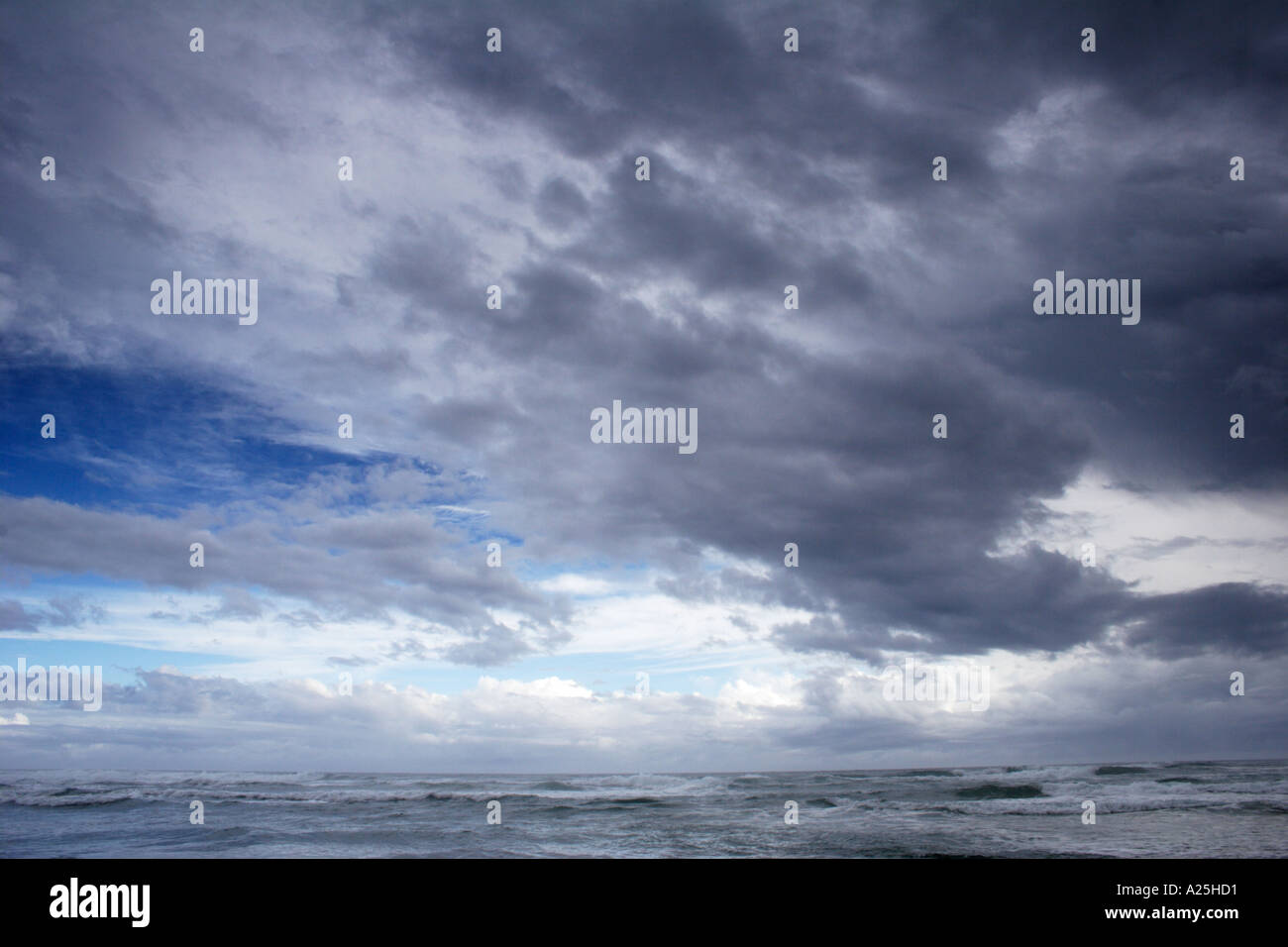 Angry sea and black thunder storm clouds background Stock ...