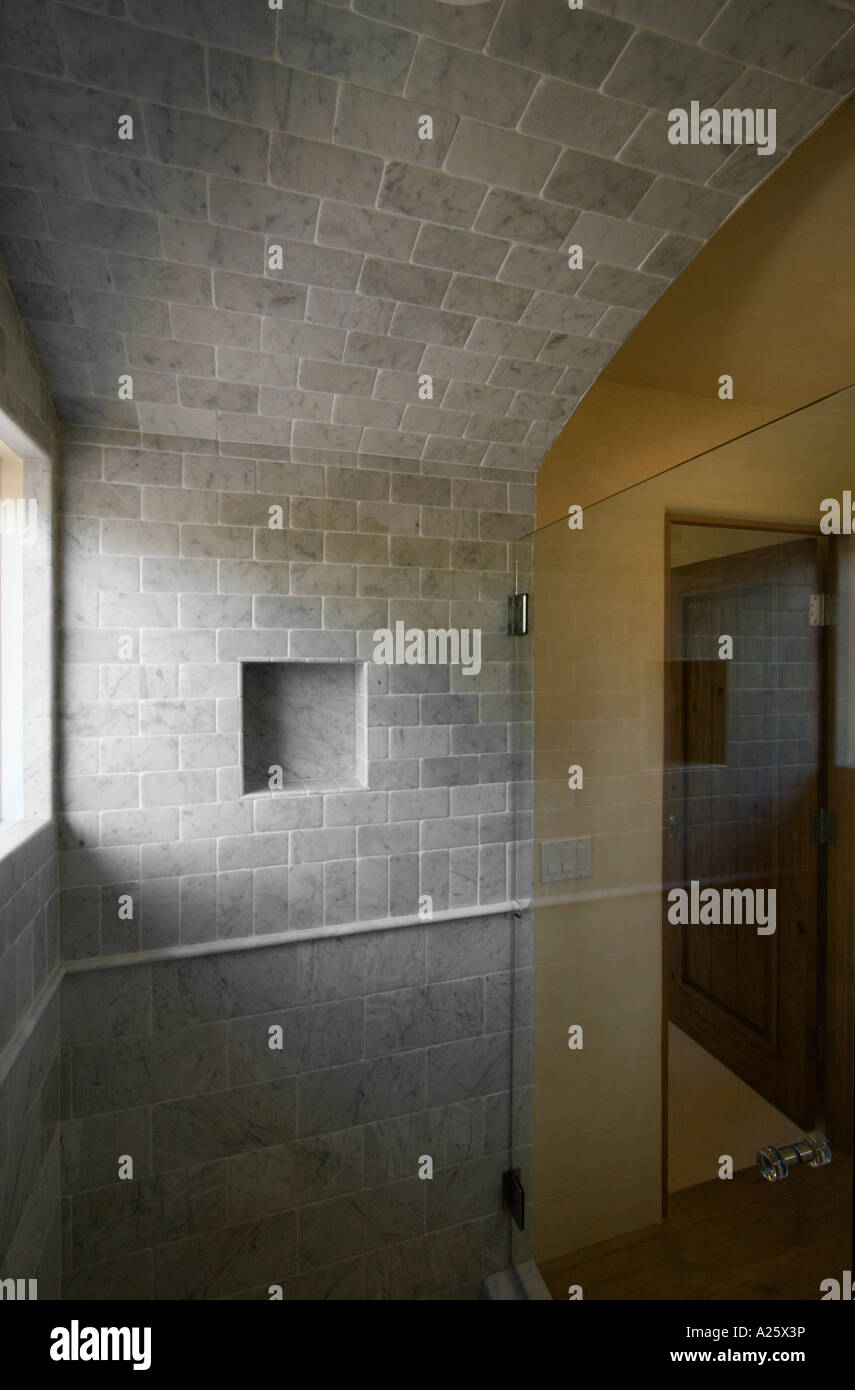 SHOWER STALL with high end TILE WORK in a CALIFORNIA LUXURY HOME ...