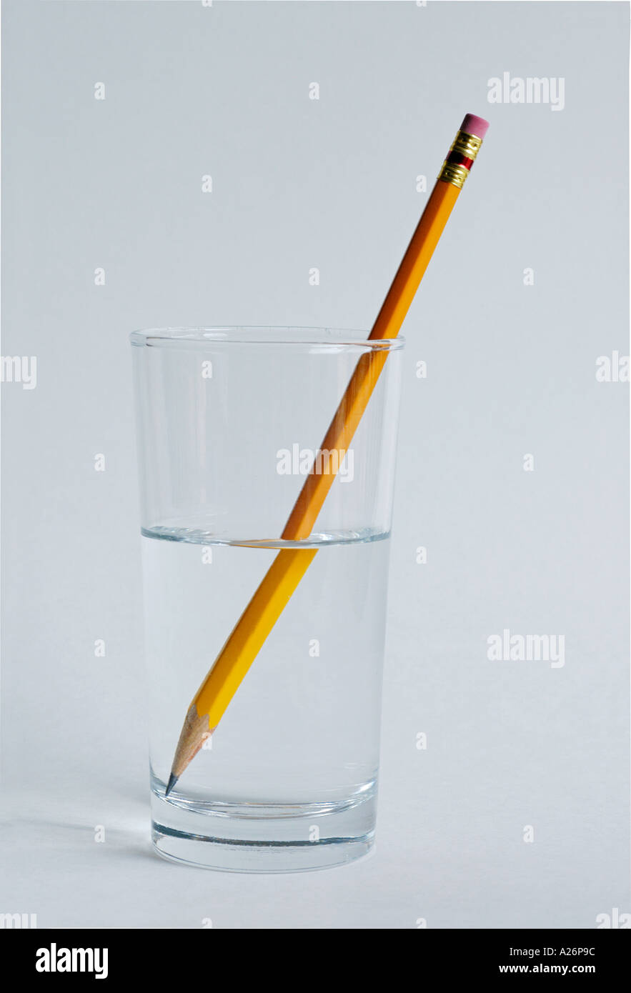 refraction of light in water When light travels from air into water, it slows down, causing it to change direction slightly this change of direction is called refraction when light enters a more dense substance (higher refractive index), it 'bends' more towards the normal line.