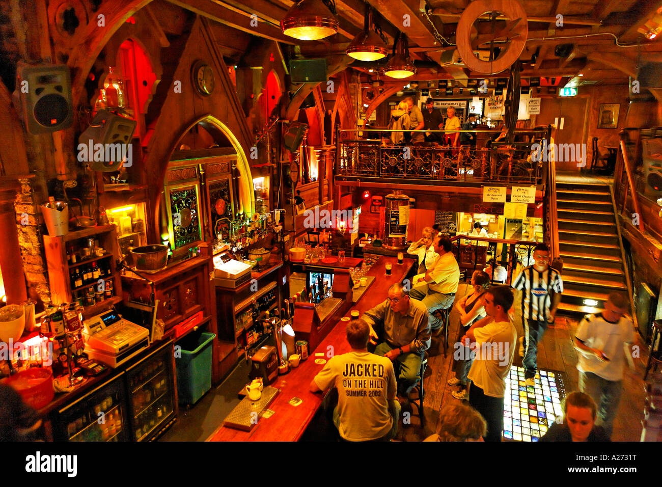 Pub The Quais Galway Galway Ireland Stock Photo