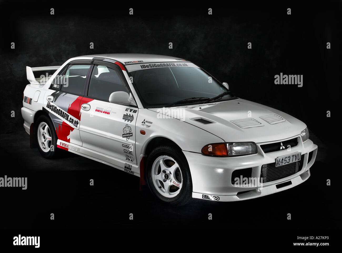 Mitsubishi Lancer Evo Rally Car Stock Photos & Mitsubishi Lancer ...