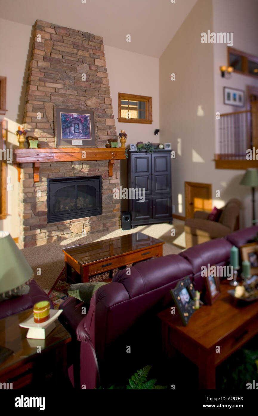 Upper middle class living room - Interior Living Room Of Upper Middle Class Home Fort Collins Colorado