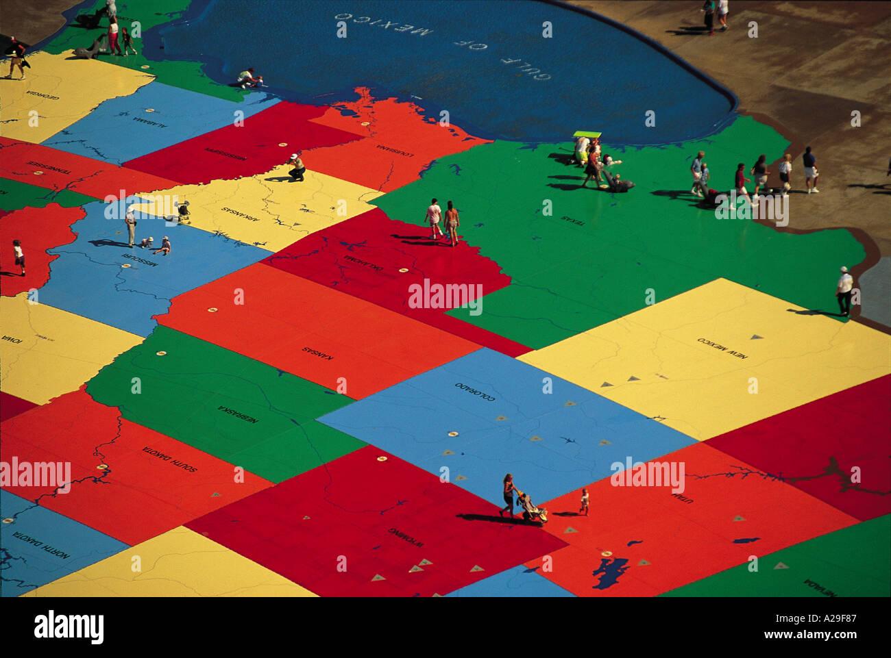 Huge US Map Sea World San Diego California USA S Grandadam Stock - San diego us map