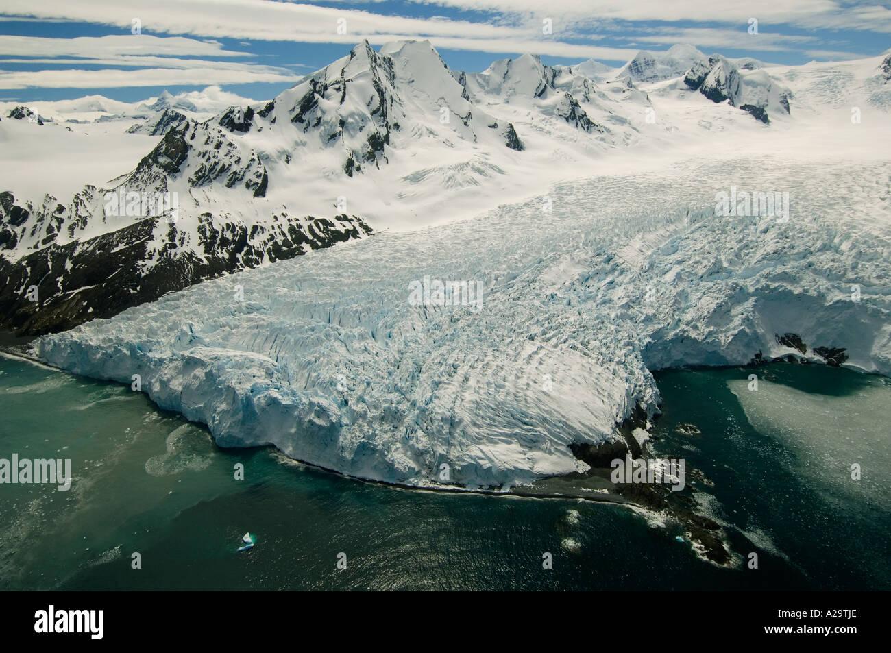 South Georgia Island Antarctica Aerial Of Henningsen