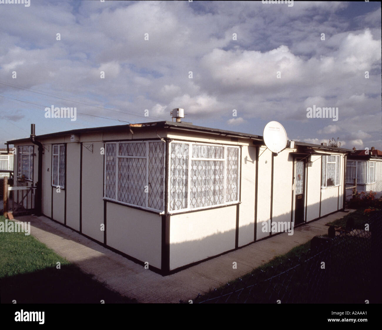 Post War Prefabricated Flat Roof Single Storey Housing