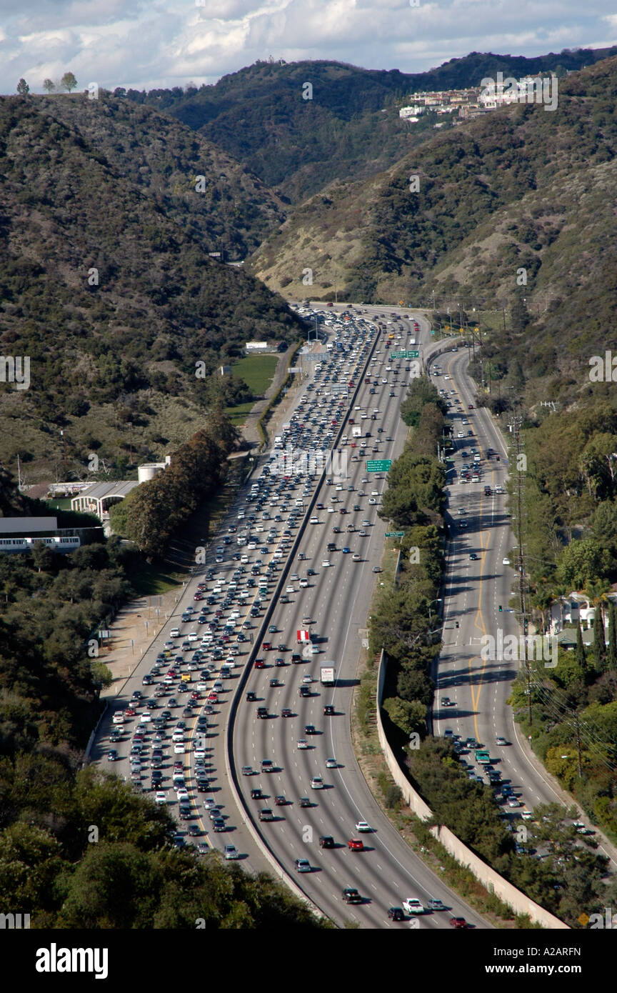 Gas Price Los Angeles >> Congested 405 Freeway, Los Angeles, California, USA, as viewed from Stock Photo, Royalty Free ...
